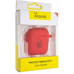 Чехол AIRPODS Silicone case NEW (№14) Red