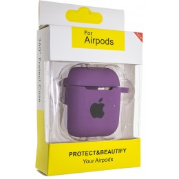 Чехол AIRPODS Silicone case NEW (№4) Violet
