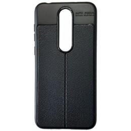 Силикон Auto Focus кожа Nokia 6.1 Plus/X6 black