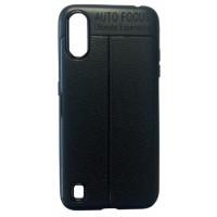 Силикон Auto Focus кожа Samsung A01 (A015) black