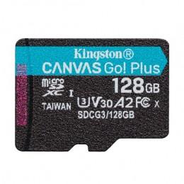 microSDXC (UHS-1 U3) Kingston Canvas Go Plus 128Gb class 10 A2 V30 (R170MB/s, W90MB/s)