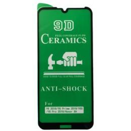 Защитное стекло CERAMIC Huawei Y6 2019 Black тех упаковка