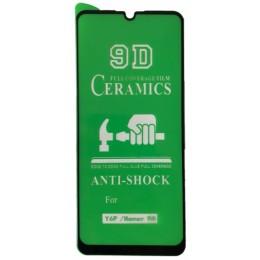 Защитное стекло CERAMIC Huawei Y6P / Honor 9A Black тех упаковка