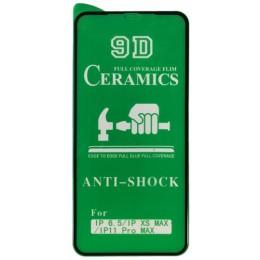 Защитное стекло CERAMIC iPhone XS Max/ 11 Pro Max Black тех упаковка