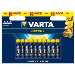 Батарейка VARTA Energy AAА BLI 10 ALKALINE LR3 (4103) цена за 10 шт.