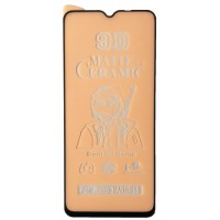 Защитное стекло Ceramic MATTE OPPO Reno 3 Black тех упак