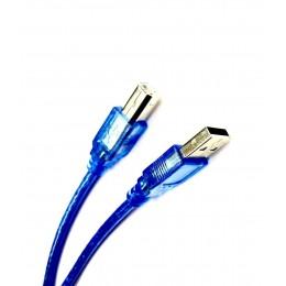 Кабель USB 2.0 AM/BM принтер 5,0м силикон феррит Blue