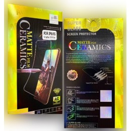 Защитное стекло Ceramic MATTE iPhone 6/6S Black Retail Box