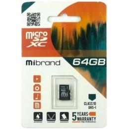microSDXC (UHS-1) Mibrand 64Gb class 10