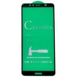 Защитное стекло CERAMIC Huawei Y6 2018 Black тех упаковка