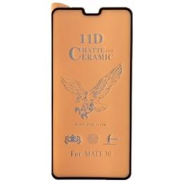 Защитное стекло Ceramic MATTE Huawei Mate 30 Black тех упаковка