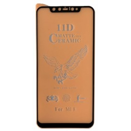 Защитное стекло Ceramic MATTE Xiaomi Mi 8/ Mi 8 Pro Black тех упаковка