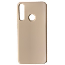 GRAND Full Silicone Cover for Huawei P40 Lite e / Y7p pink sand