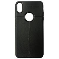 Силикон Auto Focus кожа iPhone X/XS black