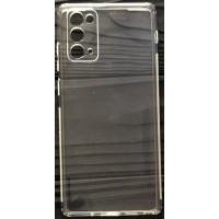 Силикон 0.5mm с заглушками+защита камеры Samsung Note 20 Clear