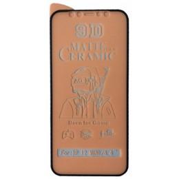 Защитное стекло Ceramic MATTE iPhone 12 mini Black тех упак