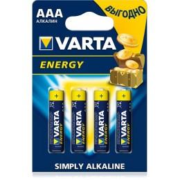 Батарейка VARTA Energy AAA BLI 4 ALKALINE LR3 (4103)