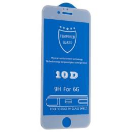 Защитное стекло 10D for iPhone 6 / 6S white тех упаковка
