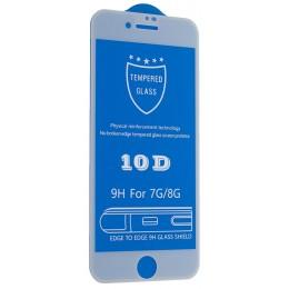 Защитное стекло 10D for iPhone 7 / 8 white тех упаковка