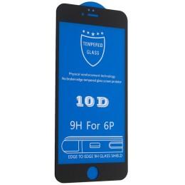 Защитное стекло 10D for iPhone 6 PLUS / 6S PLUS black тех упаковка