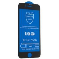 Защитное стекло 10D for iPhone 7 / 8 black тех упаковка