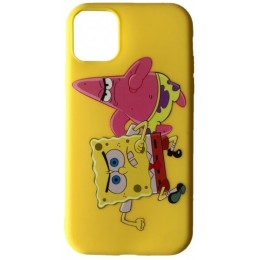 Чехол JOY for iPhone XS Max SPONGE BOB & PATRICK STAR Yellow