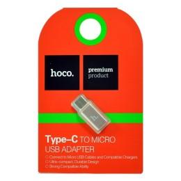 Переходник HOCO Micro-Type-C Rose Gold