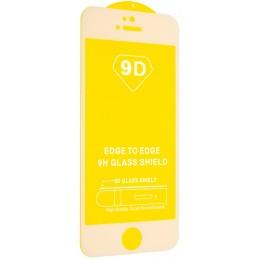 Защитное стекло 9D Full Glue iPhone 5 White тех.пак.