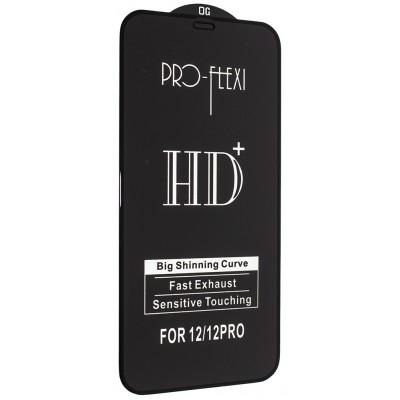 Купить оптом Защитное стекло PRO-FLEXI HD+ for iPhone 12 /12 Pro (6.1'') Black тех упаковка опт