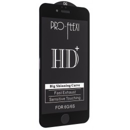 Защитное стекло PRO-FLEXI HD+ for iPhone 6/6S Black тех упаковка