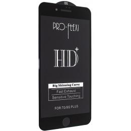Защитное стекло PRO-FLEXI HD+ for iPhone 7+/8+ Black тех упаковка