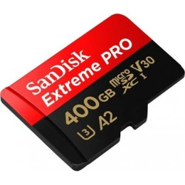 microSDXC (UHS-1 U3) SanDisk Extreme Pro A2 400Gb class 10 V30 (R170MB/s,W90MB/s) (adapter SD)