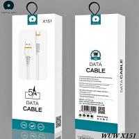 Кабель USB WUW X151 Lightning 5A/1m White