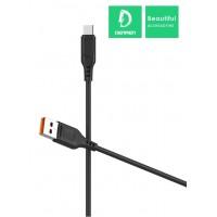 Кабель Denmen D01V USB - micro USB 2.4A/1m Black