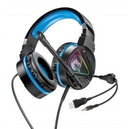 Наушники HOCO W104 Drift Gaming Blue