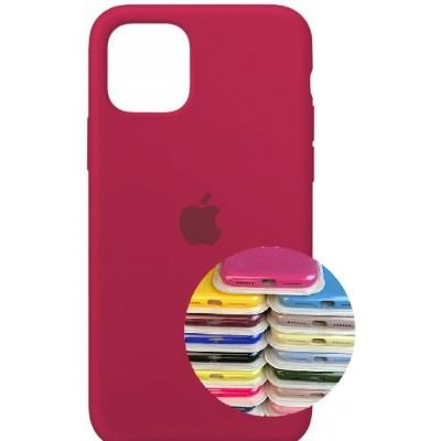 Купить оптом Silicone Case Full for iPhone 11 Pro (36) rose red опт