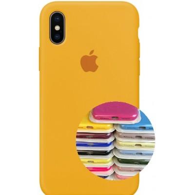 Купить оптом Silicone Case Full for iPhone X/XS ( 4) yellow опт