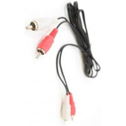Кабель Audio-Video 2RCA-2RCA 1,0m Black