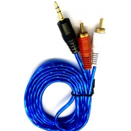 Кабель Audio-Video 3,5mm-2RCA 1,5m silicon color/packing